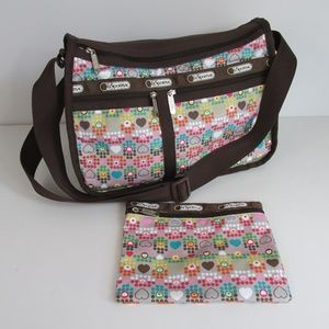 LeSportsac Hearts Dots Deluxe Everyday Expandable